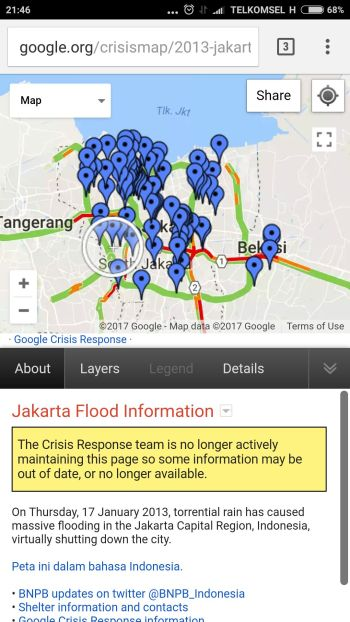 tampilan google crisis map pada handphone: http://google.org/crisismap/weather_and_events