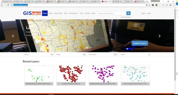 informasi GIS yang dapat diunduh melalui situs gis.bpbd.jakarta.go.id