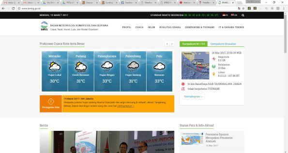 homepage website www.bmkg.go.id